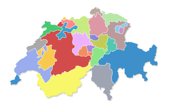 Landkarte der Schweiz